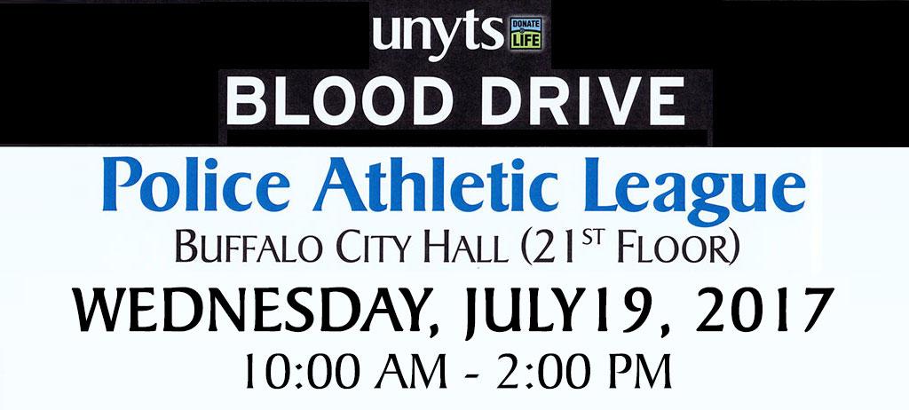 Buffalo PAL Blood Drive July 2017