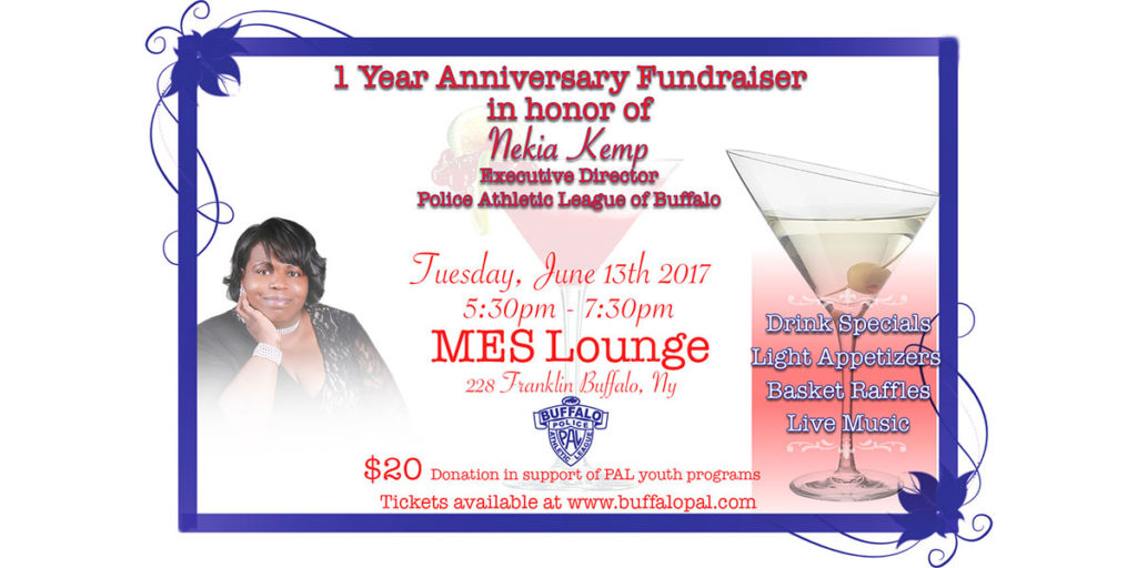 1 Year Anniversary Fundraiser in honor of Nekia Kemp, Executive Director of the Police Athletic League