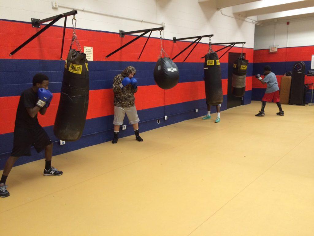Buffalo PAL boxing a Hennepin Community center