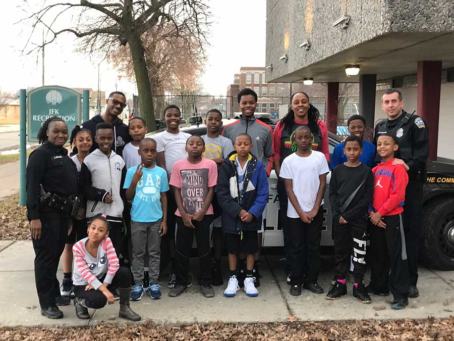 BPD Visit To JFK Community Ctr