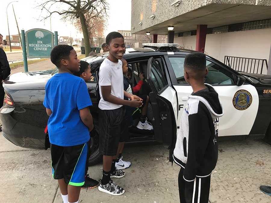 BPD Visit To JFK Community Ctr