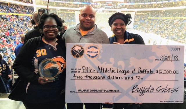 Buffalo Sabres Recognize Walmart Community Playmaker Nekia Kemp!