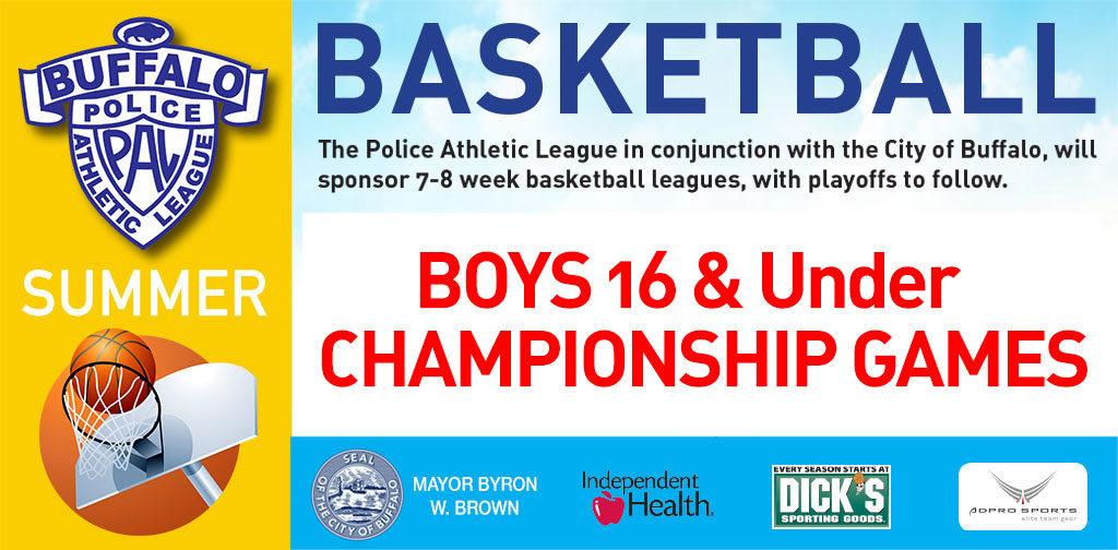 PAL Summer basketball boys 16 & under championships
