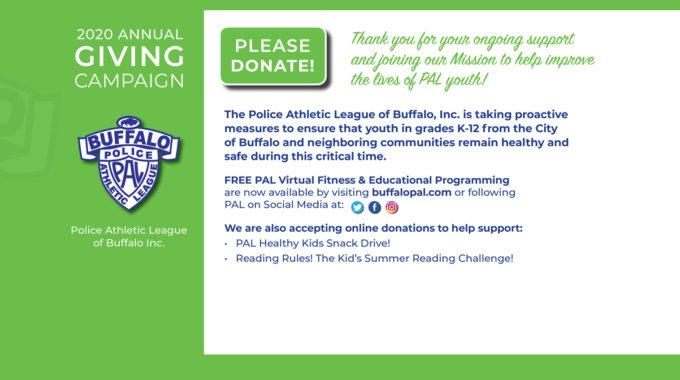 2020 Annual GIVING Campaign – PLEASE DONATE