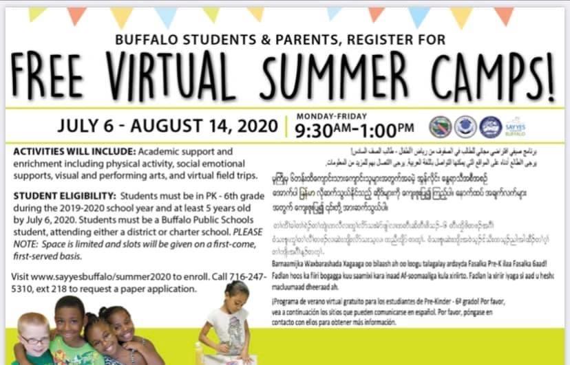 Say Yes Virtual Summer Camp
