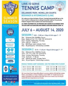 Session 1: Love to Serve Tennis @ Delaware Park, McMillan Courts