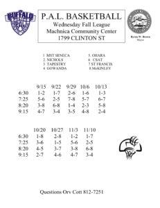 HS Basketball Fall League @ Machnica Community Center