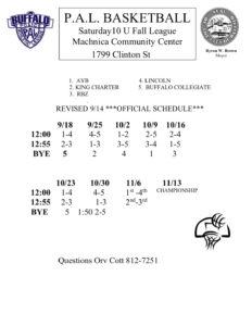 10U Fall Basketball League @ Machnica Community Center