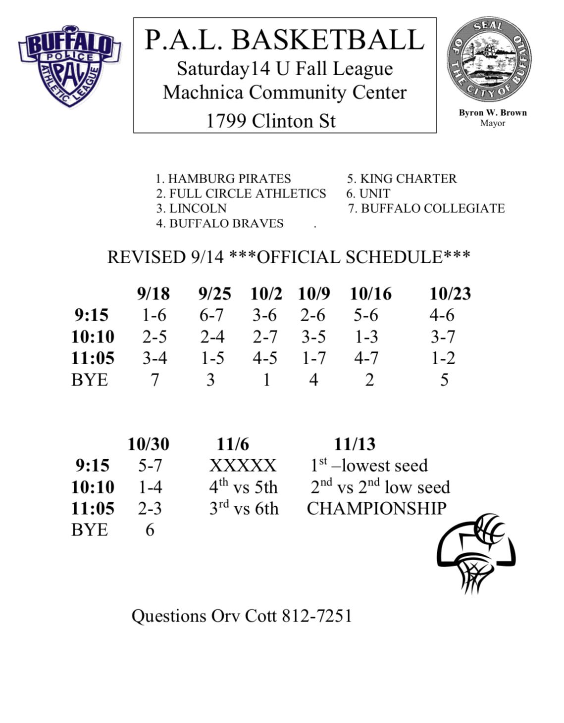 14U Fall Basketball League